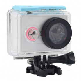 Taffware Underwater Waterproof Anti Blur Case IPX68 40m for Xiaomi Yi Sports Camera (OEM) - Blue