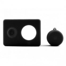 Silicon Case & Lens Cap untuk Xiaomi Yi - Black - 2