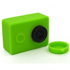 Silicon Case & Lens Cap untuk Xiaomi Yi - Green - 2