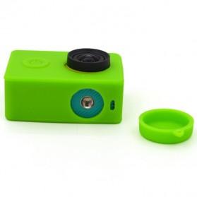 Silicon Case & Lens Cap untuk Xiaomi Yi - Green - 3