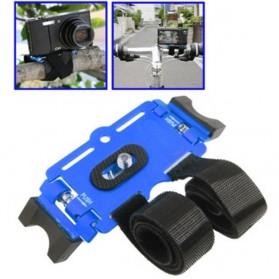 Velcro Bike Mount for Digital Camera - Blue