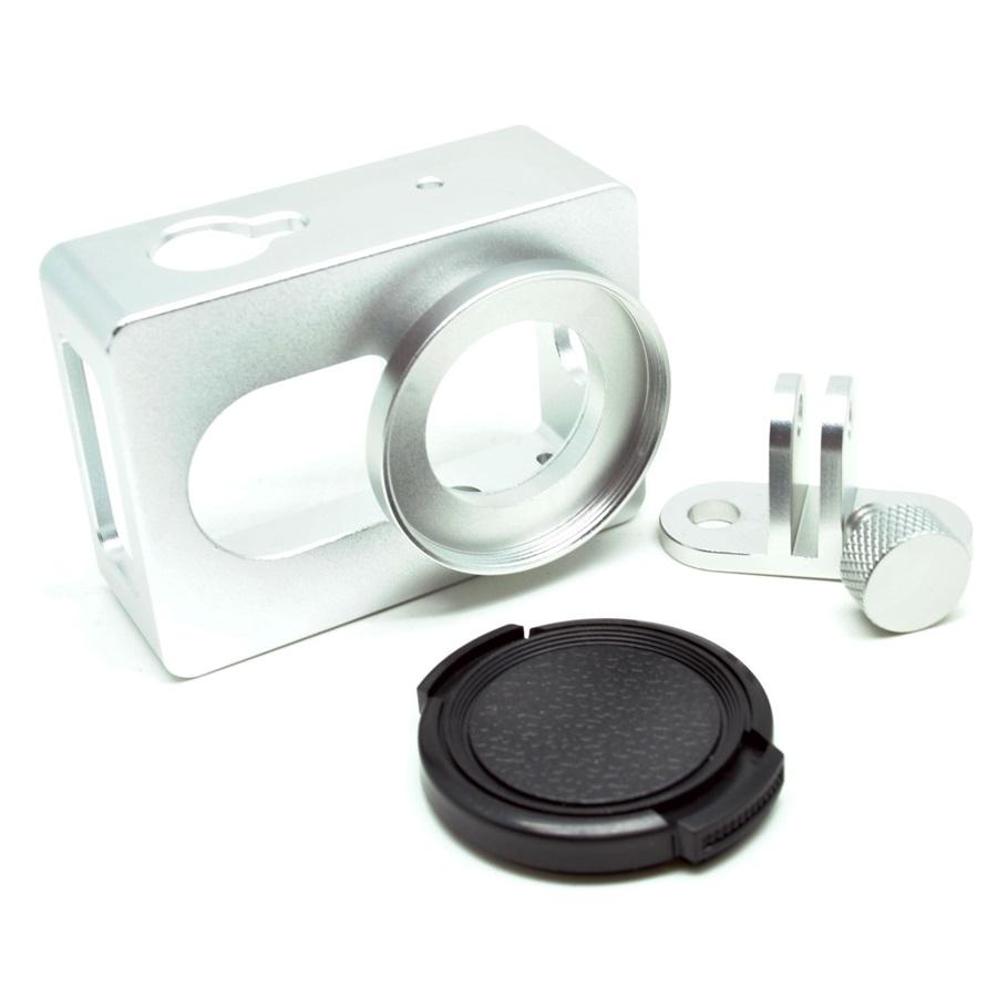 ... Aluminium Protective Case for Xiaomi Yi with CNC Screw - White - 1 ...