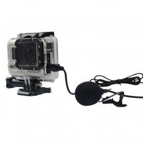 ONLENY USB Stereo Microphone for GoPro 3/4 - DZ0288 - Black - 2