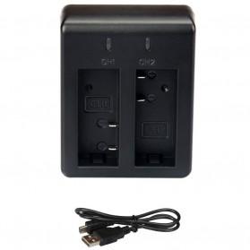 GREYSKY Dual Battery Charger for SJCAM SJ4000 SJ5000 SJ6000 M10 EKEN H9 H9R Pro - BC-SJ4000C - Black - 3