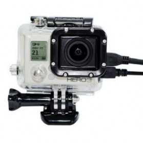 Protective Case with Side Hole for GoPro Hero 3 - Black