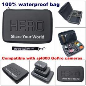 HERO Waterproof EVA Small Size Case For GoPro / Xiaomi Yi / Xiaomi Yi 2 4K - Black - 6