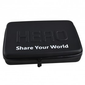 HERO Waterproof EVA Medium Size Case For GoPro / Xiaomi Yi / Xiaomi Yi 2 4K - Black