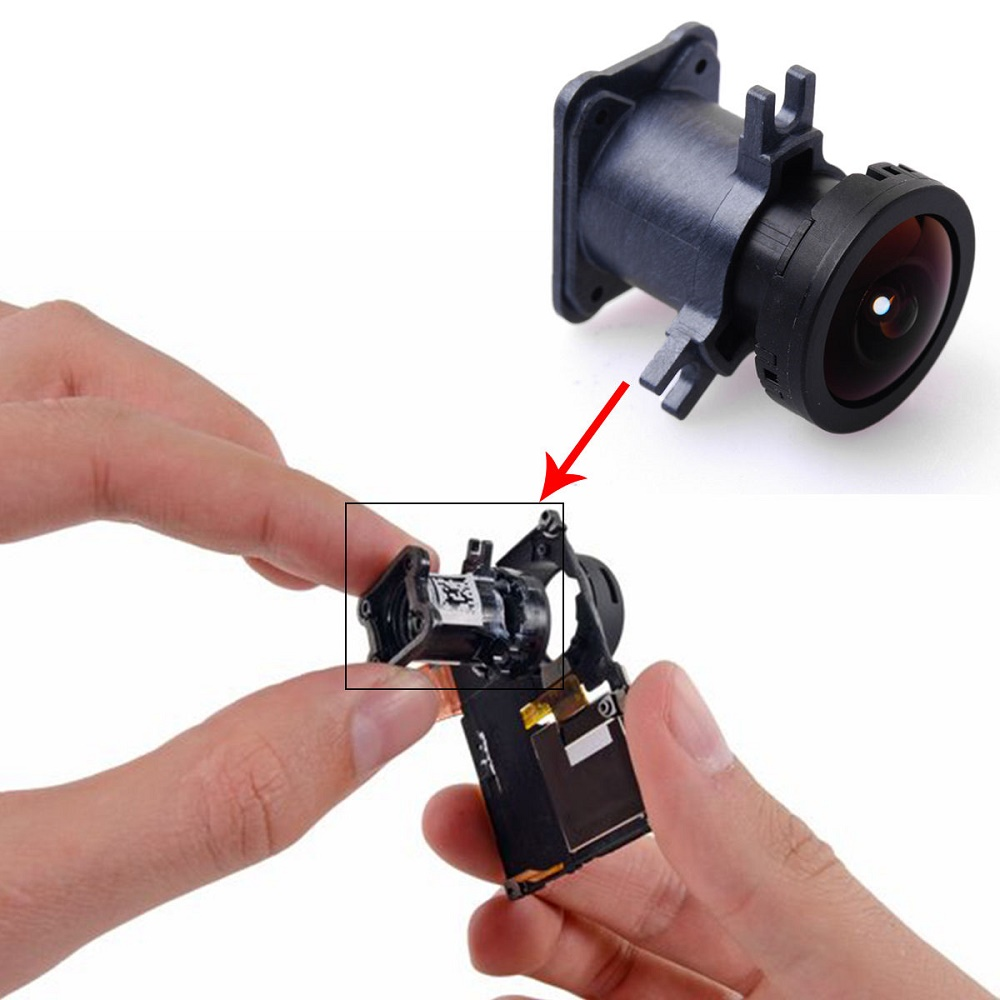 Original Lens Replacement with Lens Dock for GoPro - Black - 6 ...