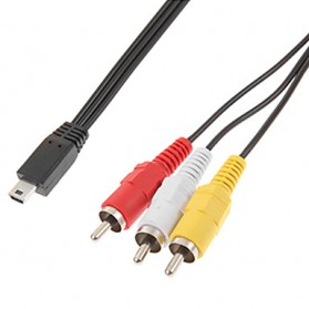 Mini USB to RCA Composite Cable for Action Camera GoPro - 1