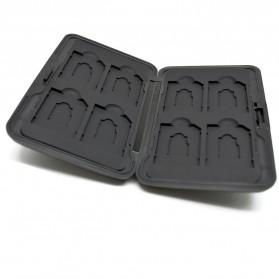 Kotak Metal Penyimpan SD & Micro SD 8 Slot - 421 - Black/Black - 3