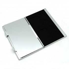 ISKYBOB Metal 12 In 1 Aluminium 8 Micro SD + 4 SD Card Storage Box - MCC01 - White - 3