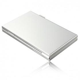 ISKYBOB Metal 12 In 1 Aluminium 8 Micro SD + 4 SD Card Storage Box - MCC01 - White - 4
