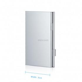 ISKYBOB Metal 12 In 1 Aluminium 8 Micro SD + 4 SD Card Storage Box - MCC01 - White - 6