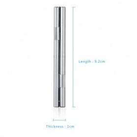 ISKYBOB Metal 12 In 1 Aluminium 8 Micro SD + 4 SD Card Storage Box - MCC01 - White - 7