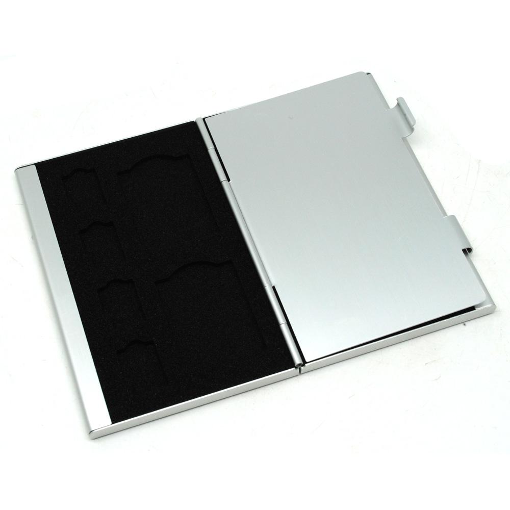 Metal 12 In 1 Aluminium 8 Micro Sd 4 Card Storage Box White Noosy 3 Nano Standart Tempat Sim Adapter Tray Holder
