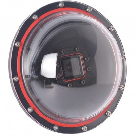 Telesin Dome Port Underwater Clear Photography 6 Inch Acrylic Base for GoPro - Black - 4