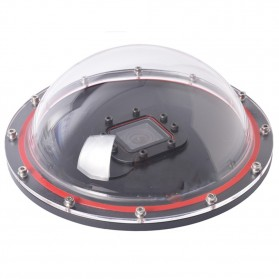 Telesin Dome Port Underwater Clear Photography 6 Inch Acrylic Base for GoPro - Black - 5