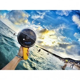 Telesin Dome Port Underwater Clear Photography 6 Inch Acrylic Base for GoPro - Black - 8