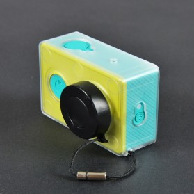 Transparent Plastic Protective Case Housing Frame for Xiaomi Yi Sports Camera - Transparent