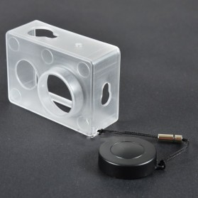Transparent Plastic Protective Case Housing Frame for Xiaomi Yi Sports Camera - Transparent - 2