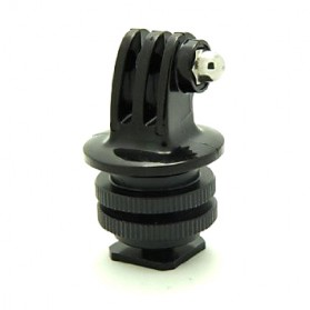 Foray M-CG Tripod Screw to SLR Camera Flash Shoe Mount Adapter for GoPro - Black