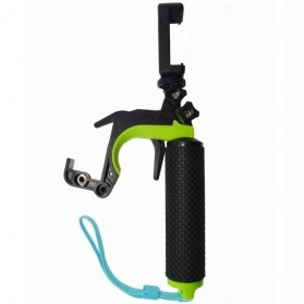Shutter Controller with Floating Monopod + Smartphone Clamp for GoPro - Green