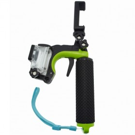 Shutter Controller with Floating Monopod + Smartphone Clamp + Waterproof Case for GoPro 3 - Green