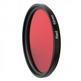 UV Filter Lens 52mm Color for Xiaomi Yi - Red