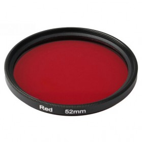 UV Filter Lens 52mm Color for Xiaomi Yi - Red - 3