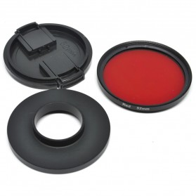 UV Filter Lens 52mm Color for Xiaomi Yi - Red - 6