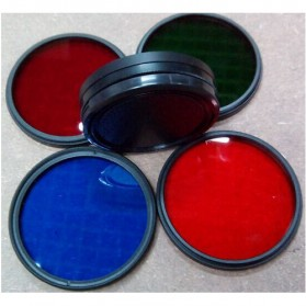 UV Filter Lens 52mm Color for Xiaomi Yi - Red - 7