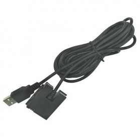 Gopro 3 Dummy Battery Eliminator Adapter USB Cable Power - Black - 2