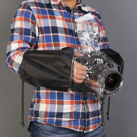 Rainproof Dust Protector for DSLR Camera - Black - 5