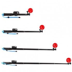 Monopod with Wireless Remote Control Slot 93cm for GoPro / Xiaomi Yi / Xiaomi Yi 2 4K - Black - 5