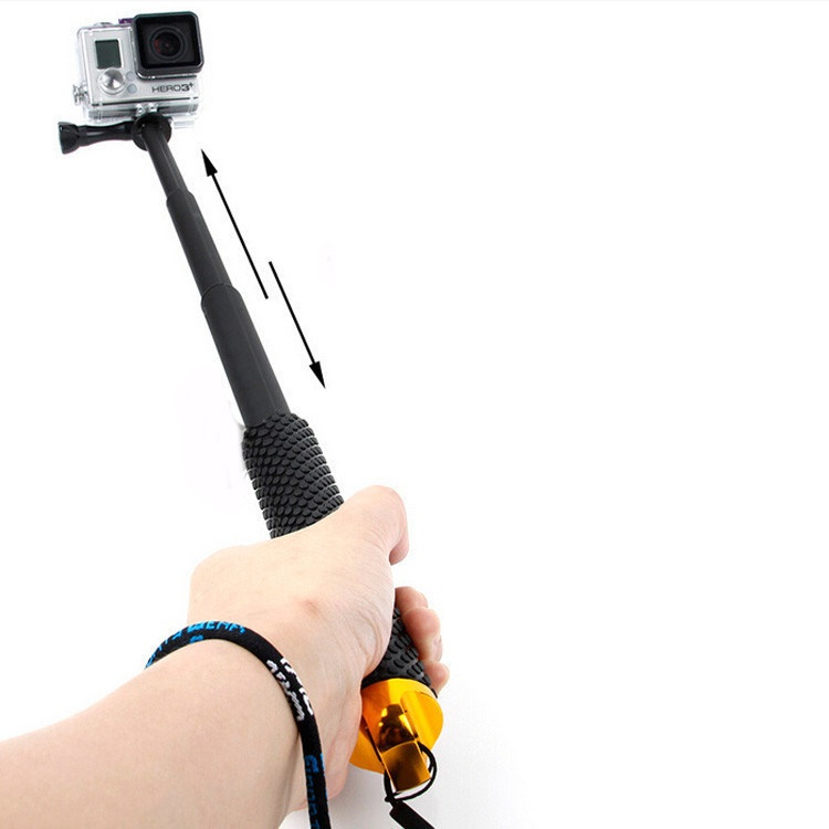 Metal Lid Pov Extendable Pole Monopod 48 Cm For Gopro