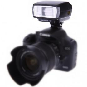 Yinyan Mini Flash Kamera 5600K Untuk DSLR Canon Nikon - BY-18 - Black - 2