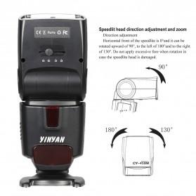 Yinyan Flash Kamera Zoom Speedlite 5600K Untuk DSLR Canon Nikon - CY-450M - Black - 6