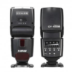 Yinyan Flash Kamera Zoom Speedlite 5600K Untuk DSLR Canon Nikon - CY-450M - Black - 7