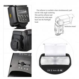 Yinyan Flash Kamera Zoom Speedlite 5600K Untuk DSLR Canon Nikon - CY-450M - Black - 9