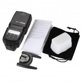 Yinyan Flash Kamera Zoom Speedlite 5600K Untuk DSLR Canon Nikon - CY-450M - Black - 10