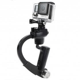 Plastic Handheld Curve Stabilizer for GoPro/Xiaomi Yi/Xiaomi Yi 2 4K - Black