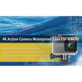 Kingma Underwater Waterproof Case IPX-8 60m for Xiaomi Yi 2 4K / Lite / Discovery - Black - 11