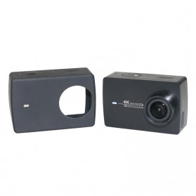 Sindax Action Camera Silicone Case + Lens Cover for Xiaomi Yi 2 4K / Lite / Discovery - PJ-37 - Black - 3