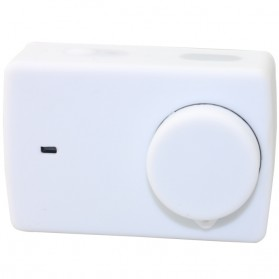 Action Camera Silicone Case + Lens Cover for Xiaomi Yi 2 4K / Xiaomi Yi Lite - PJ-37 - White