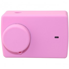 Action Camera Silicone Case + Lens Cover for Xiaomi Yi 2 4K / Xiaomi Yi Lite - PJ-37 - Rose