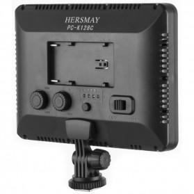 Hersmay Professional Photography LED Flashlight 3200k-5600k - PC-K128C - Black - 3