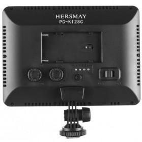 Hersmay Professional Photography LED Flashlight 3200k-5600k - PC-K128C - Black - 4