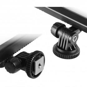 Hersmay Professional Photography LED Flashlight 3200k-5600k - PC-K128C - Black - 8