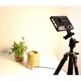 Hersmay Professional Photography LED Flashlight 3200k-5600k - PC-K128C - Black - 9