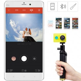 Xiaomi Yi Selfie Stick Monopod with Bluetooth Remote for Xiaomi Yi / Xiaomi Yi 2 4K / Smartphone (Replika 1:1) - Black - 3